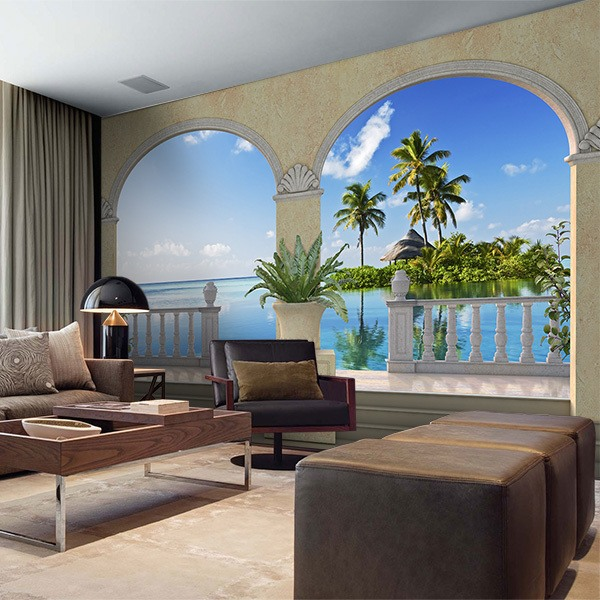 Wall Murals: Small island in the Caribbean 0