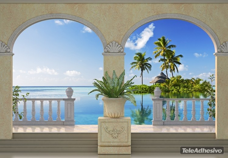 Wall Murals: Small island in the Caribbean