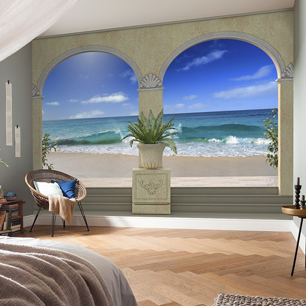 Wall Murals: Porches on the beach 0