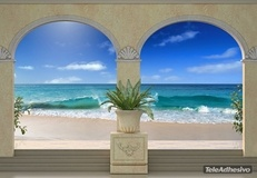 Wall Murals: Porches on the beach 2