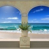 Wall Murals: Porches on the beach 3