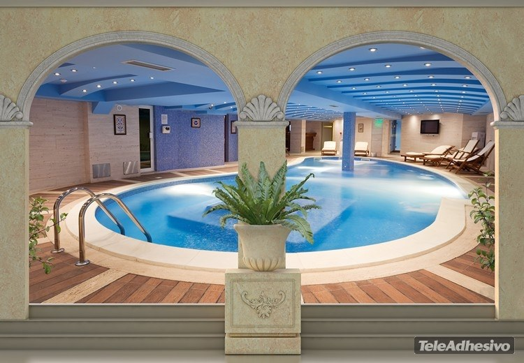 Wall Murals: Spa pool