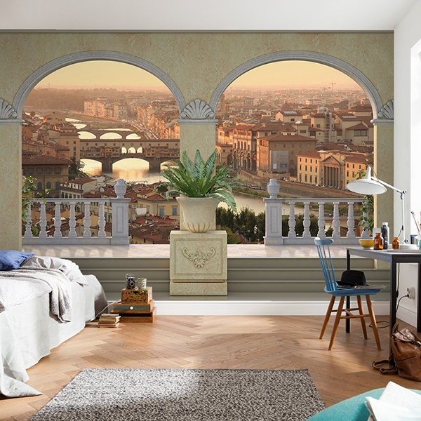 Wall Murals: Balcony in Florence 0