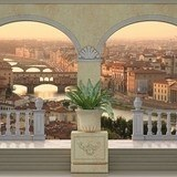 Wall Murals: Balcony in Florence 3