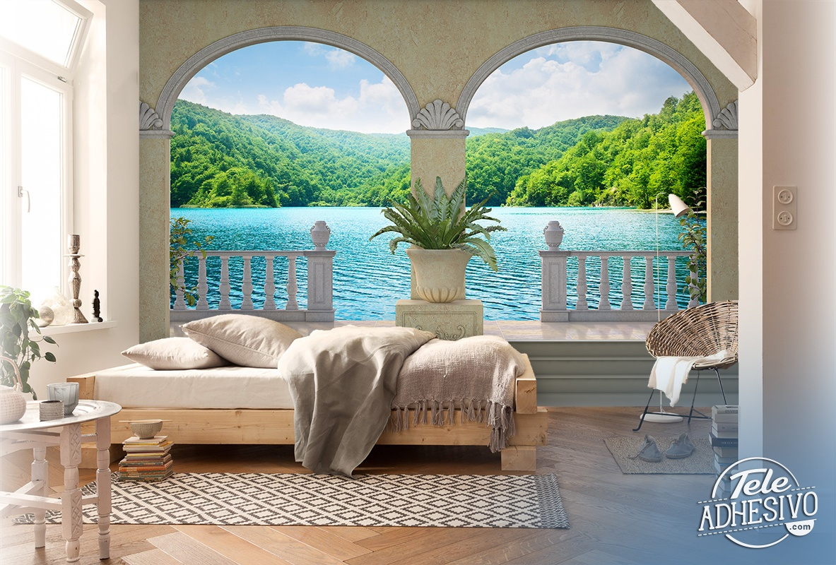 Wall Murals: Lake and vegetation