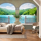 Wall Murals: Lake and vegetation 2