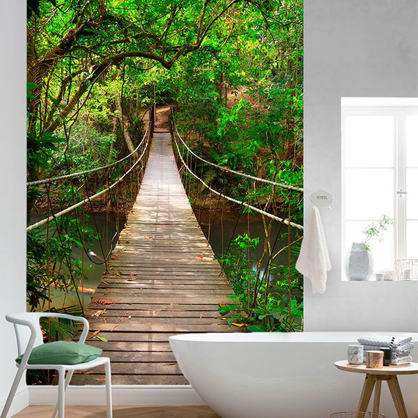 Wall Murals: Bridge in the Amazon 0