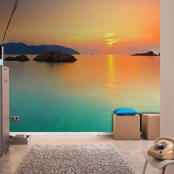 Wall Murals: Sunrise in the sea
