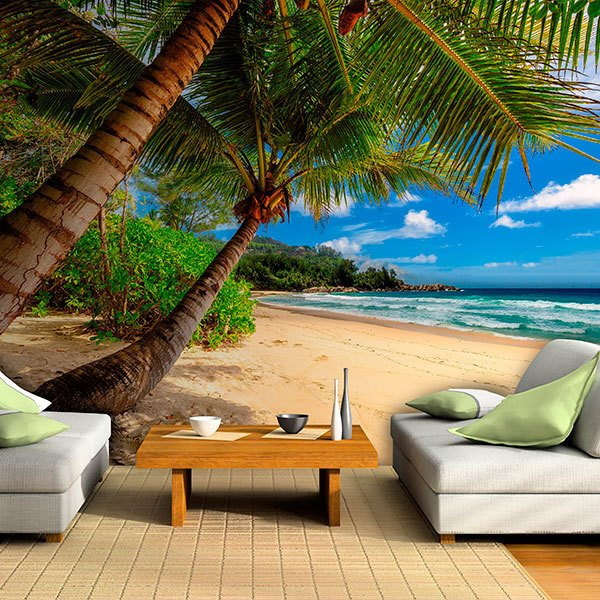 Wall Murals: Caribbean Palm Trees 0