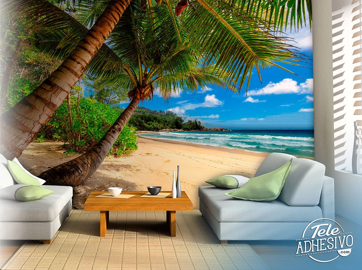Wall Murals: Caribbean Palm Trees