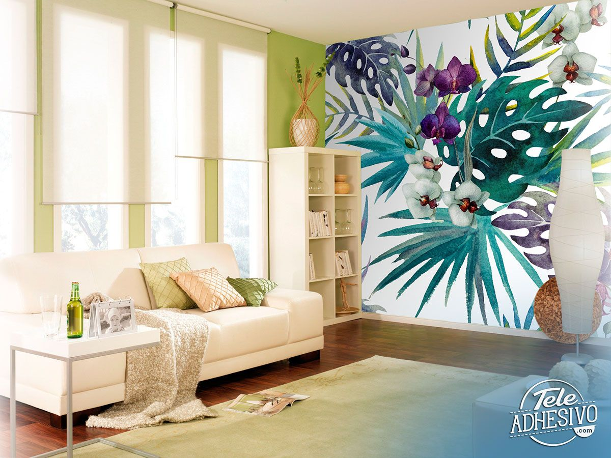 Wall Murals: Watercolor flowers