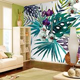 Wall Murals: Watercolor flowers 2