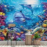 Wall Murals: Dolphins under the sea 2