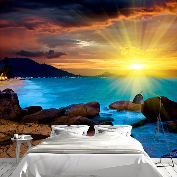 Wall Murals: Magical sunset
