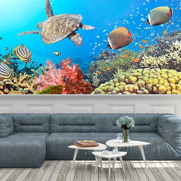 Wall Murals: Panoramic under the sea