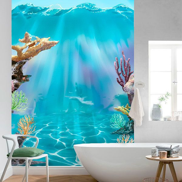 Wall Murals: Coral under the waves