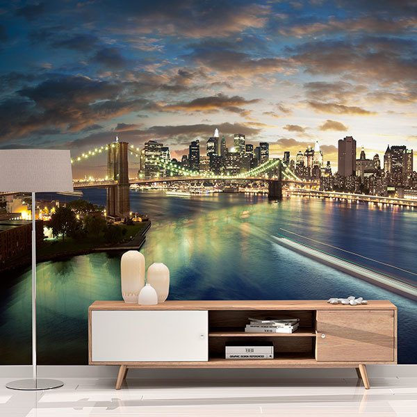 Wall Murals: Magical Brooklyn Bridge