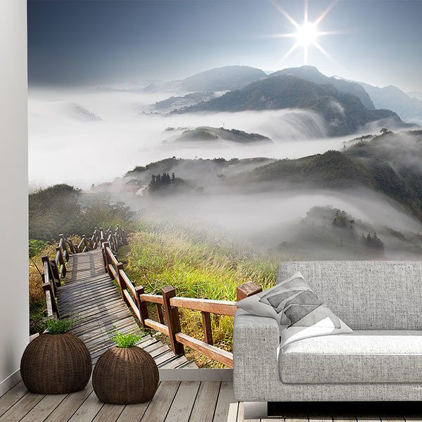 Wall Murals: Mountains in the fog 0