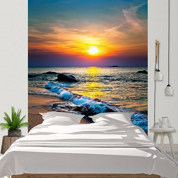 Wall Murals: Deep sunset
