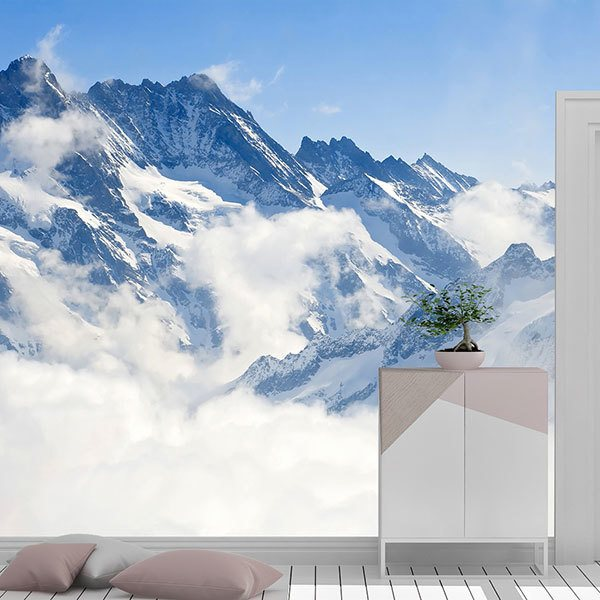 Wall Murals: Mountains above the clouds 0