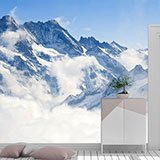 Wall Murals: Mountains above the clouds 2