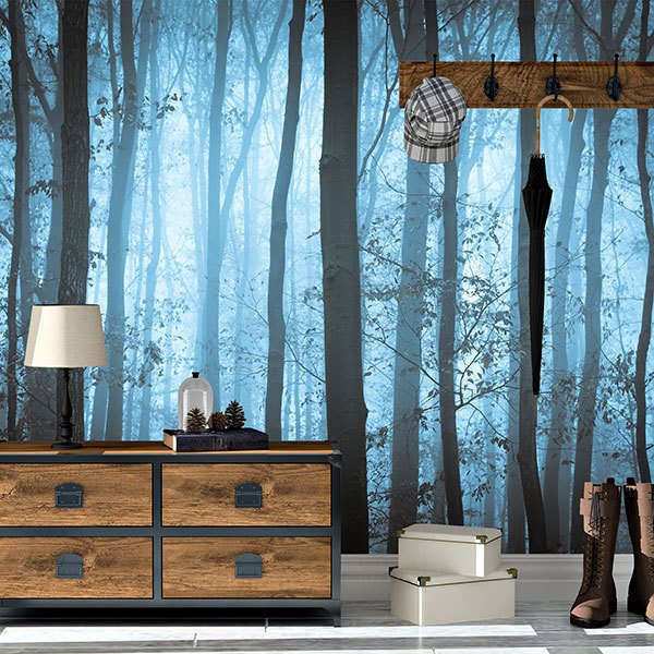 Wall Murals: The blue forest
