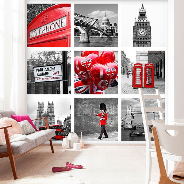 Wall Murals: Collage of London