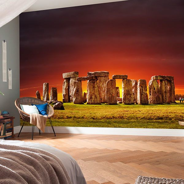 Wall Murals: Stonehenge at sunset 0