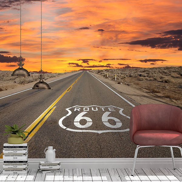 Wall Murals: Route 66