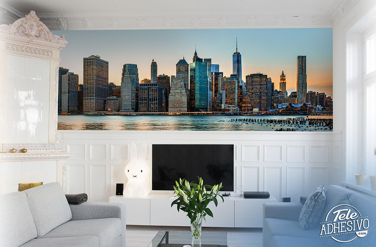 Wall Murals: Panoramic view of New York