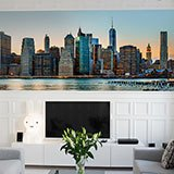 Wall Murals: Panoramic view of New York 2