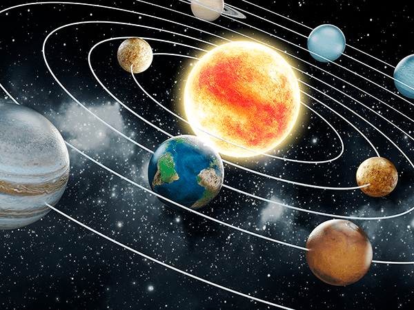 Wall Murals: Orbit of the Solar System