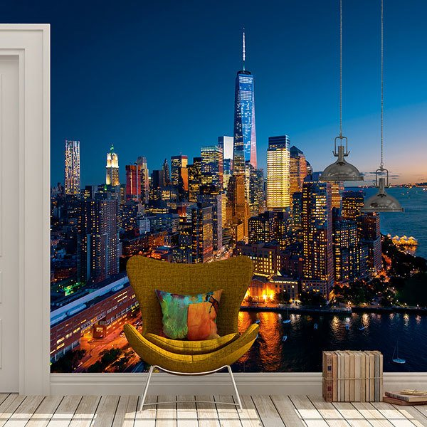 Wall Murals: Manhattan at night