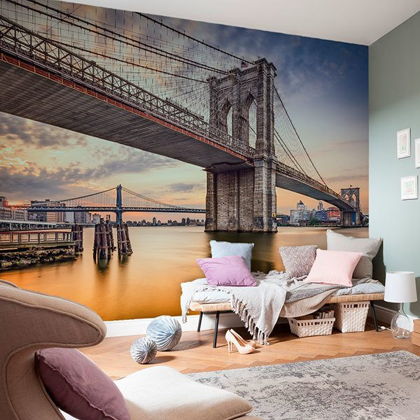 Wall Murals: New York Bridges
