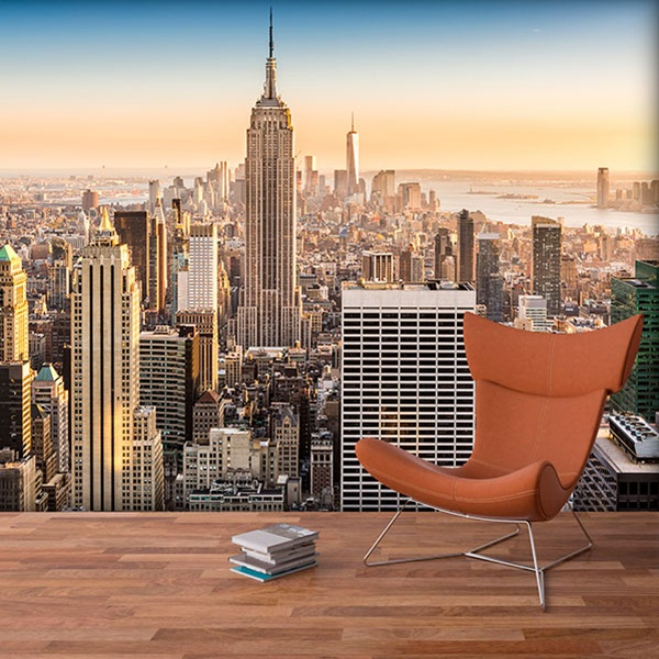 Wall Murals: Downtown Manhattan at sunset