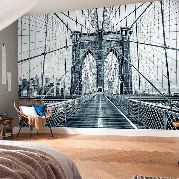 Wall Murals: Crossing the Brooklyn Bridge 0