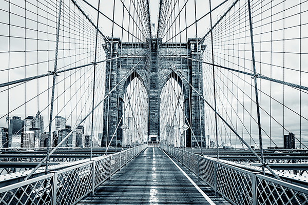 Wall Murals: Crossing the Brooklyn Bridge
