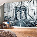 Wall Murals: Crossing the Brooklyn Bridge 2