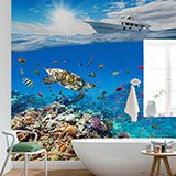 Wall Murals: Yacht sailing on corals 2