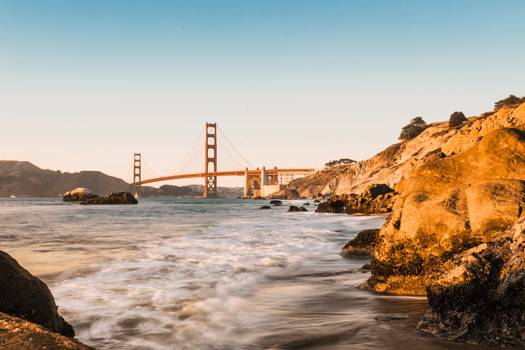 Wall Murals: Golden Gate Bridge of San Francisco