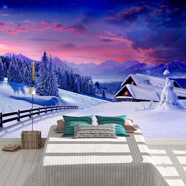 Wall Murals: Cottage in the Alps 0