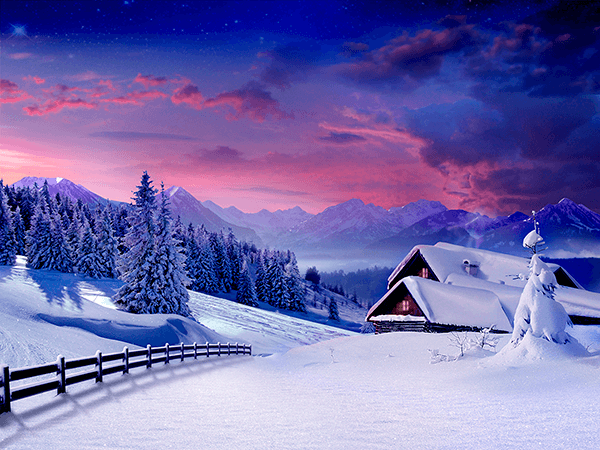 Wall Murals: Cottage in the Alps