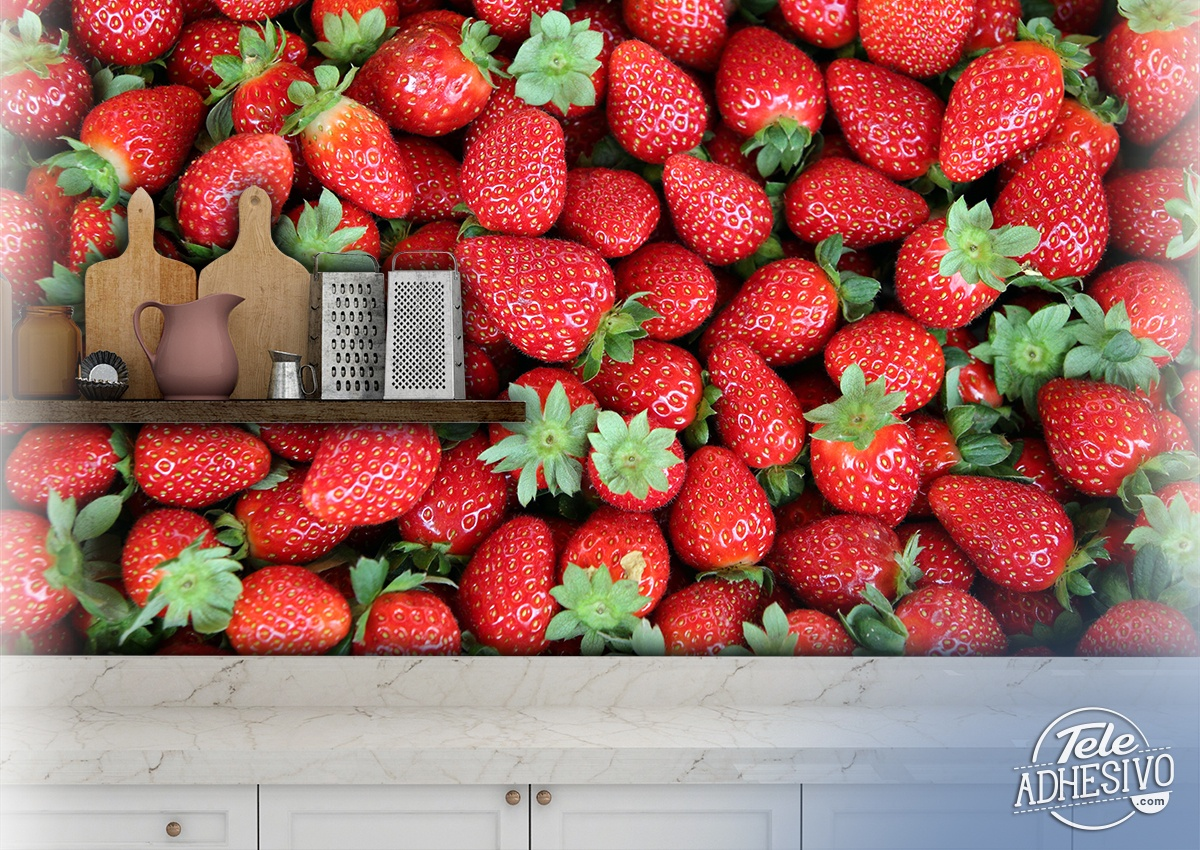 Wall Murals: Strawberries