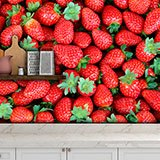 Wall Murals: Strawberries 2