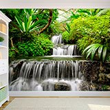 Wall Murals: Waterfalls in the tropical garden 2
