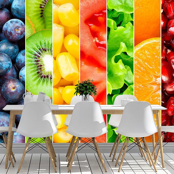 Wall Murals: Fruits in vertical bands