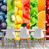 Wall Murals: Fruits in vertical bands 2