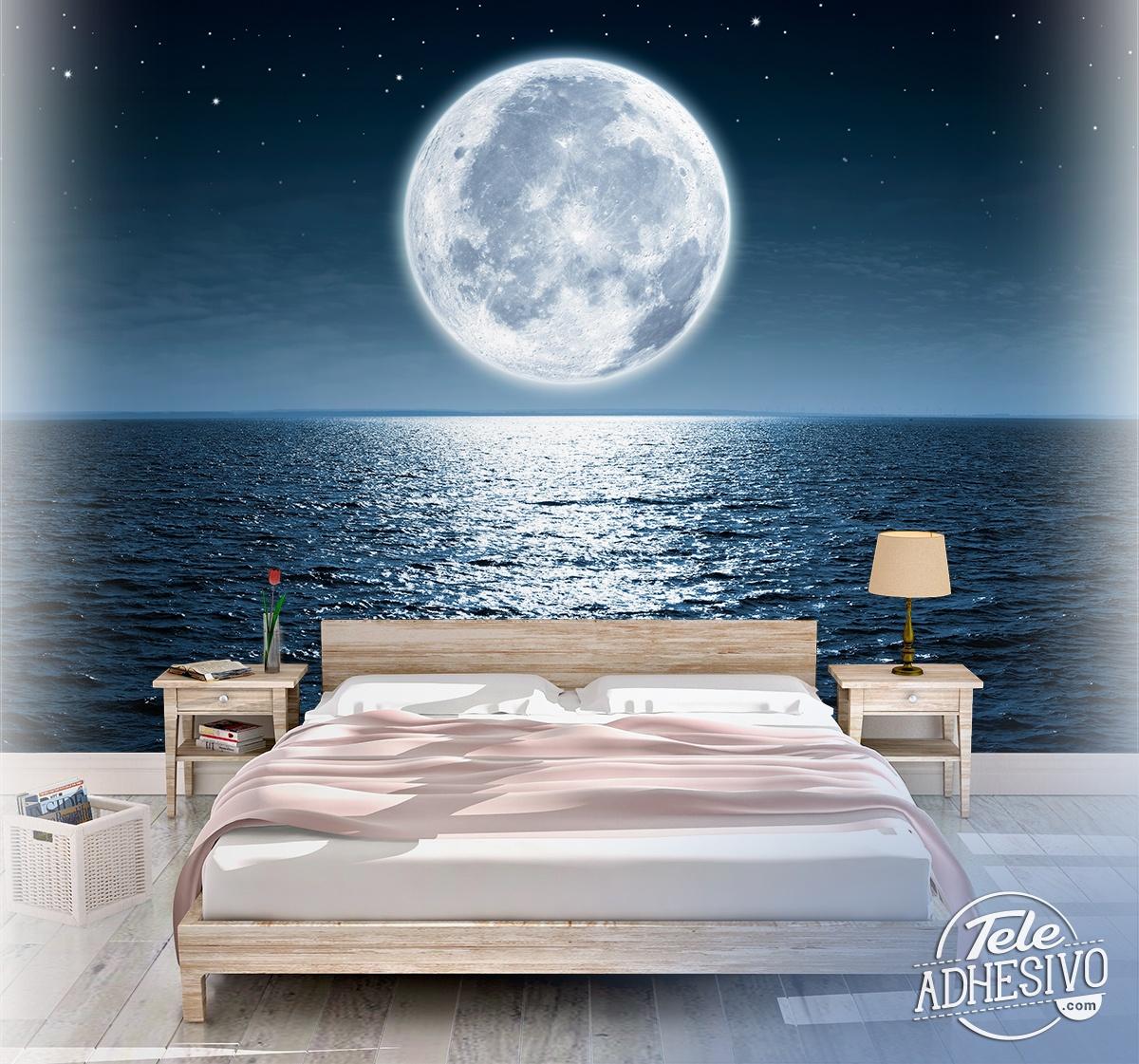 Wall Mural Full Moon Night Muraldecal Com