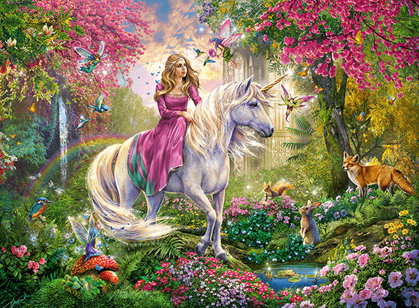 Wall Murals: The princess of the unicorn