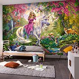Wall Murals: The princess of the unicorn 2